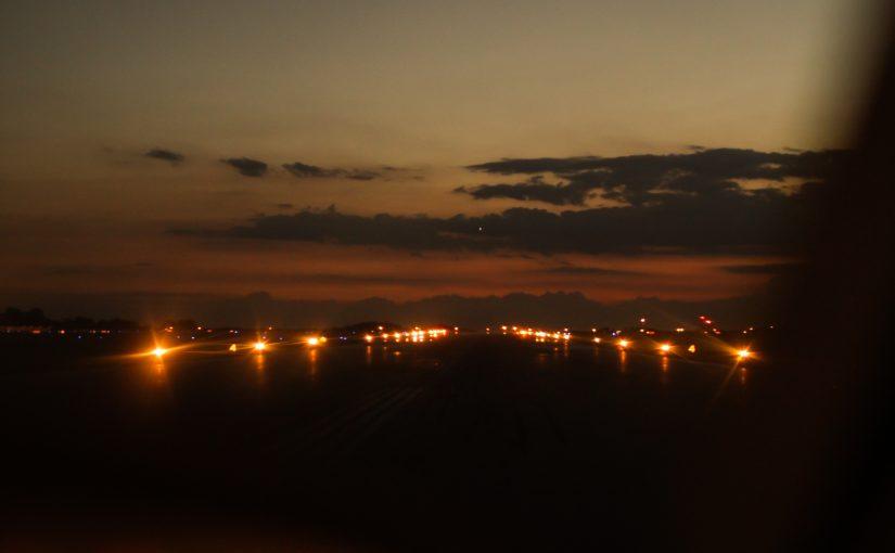 Columbus at night!
