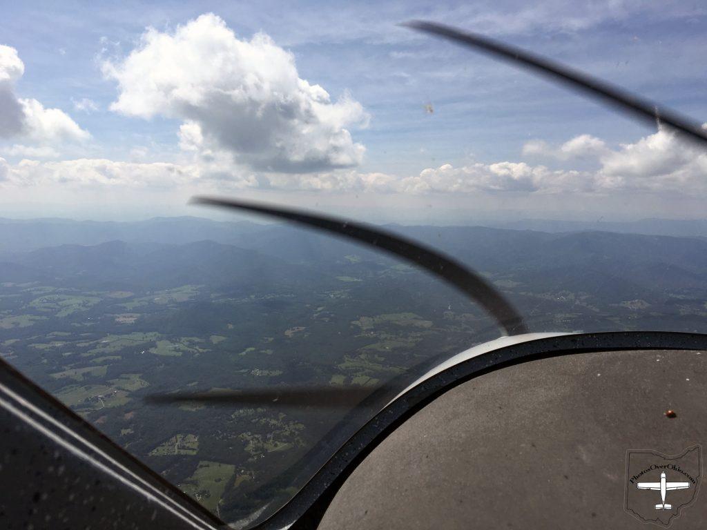 Here I am somewhere near Charlottesville, VA approaching the Appalachians.
